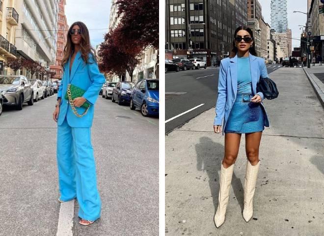 Синій колір в одязі: що означає