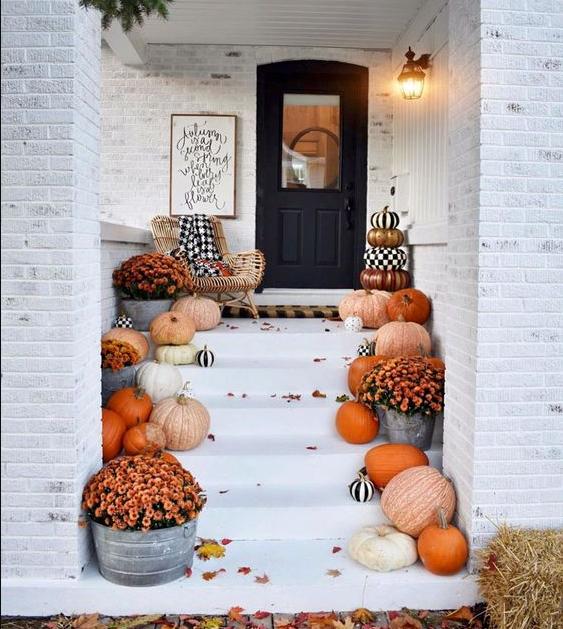 Осенний декор с тыквой