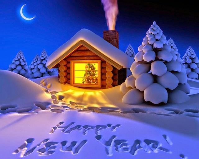Красивые открытки на Новый год