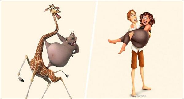 Если бы герои мультфильмов были людьми