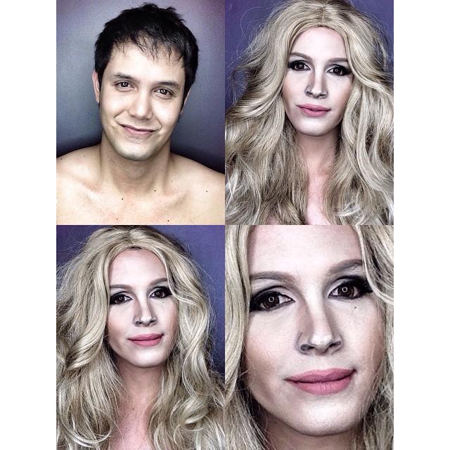 Сила макіяжу: навіть чоловік може виглядати як Кім Кардашян
