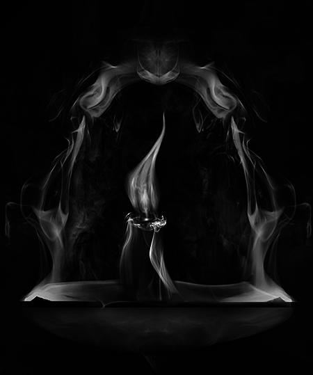 Очаровательные рисунки из дыма