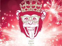Новогодние открытки 2016 год обезьяны