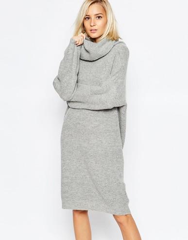 Що носити в холодну погоду  трикотажні сукні - tochka.net 9cc995e9ea849