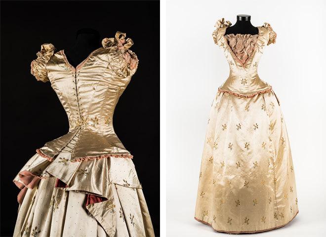 Бальное платье с цветочным орнаментом