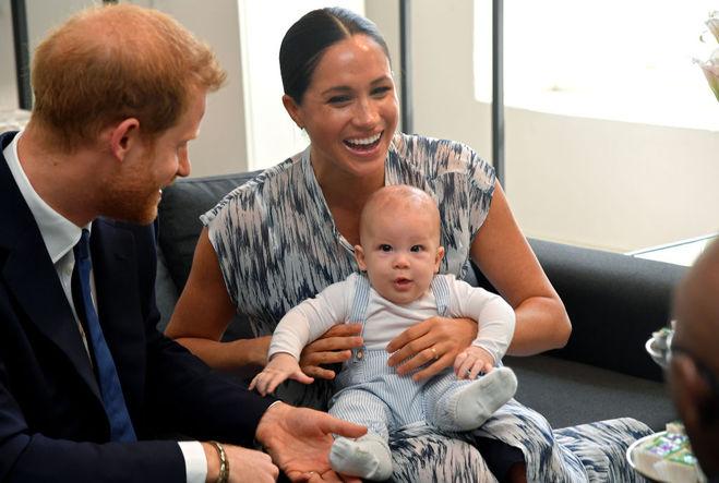 Сын Меган Маркл и принца Гарри Арчи Харрисон в сентябре 2019