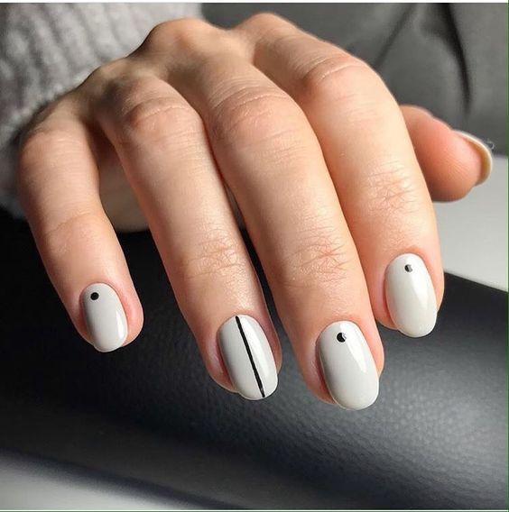 Минимализм на ногтях 2017