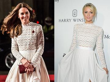 Битва нарядов: Кейт Миддлтон и Пэрис Хилтон в романтичном макси-платье