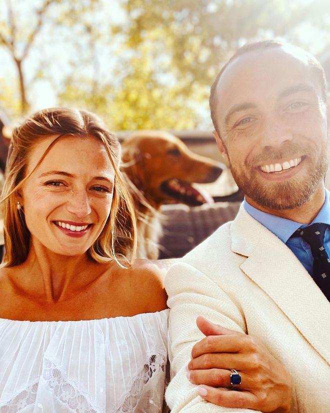 Джеймс Миддлтон с супругой Ализе Тевенет