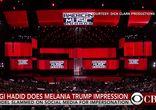 Пародия Джиджи Хадид на Меланию Трамп