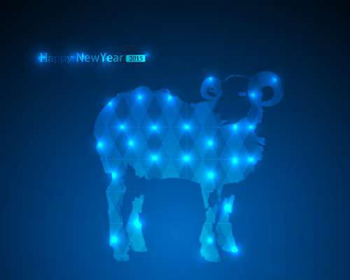 Ночная открытка к новому году овцы