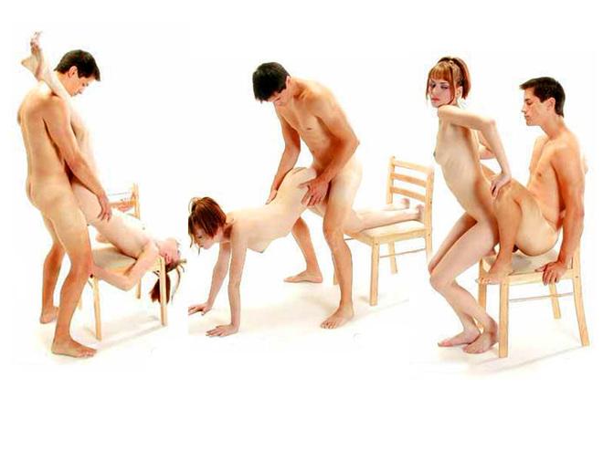 Фото секс со стулом