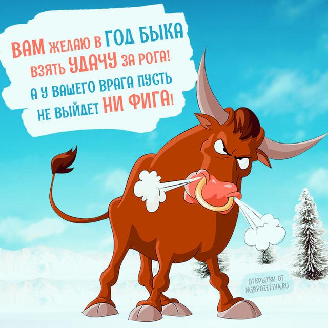 Пожелание на Новый год быка 2020