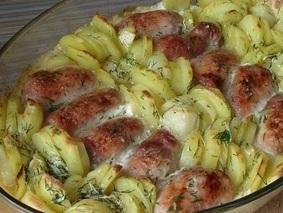 Мясные рулетики с картошкой в сливках