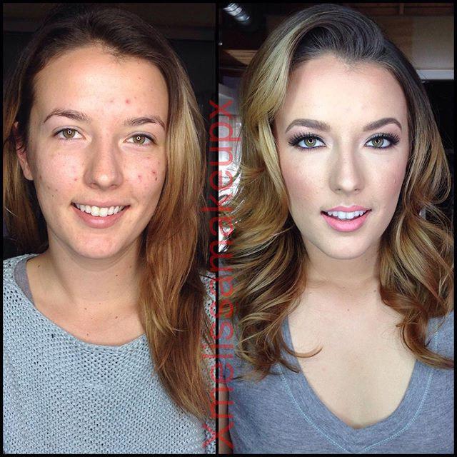 Порно-звезды с макияжем и без