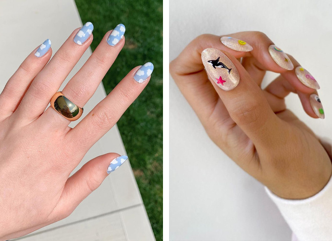 Пляжный маникюр: дизайн ногтей для летнего отдыха