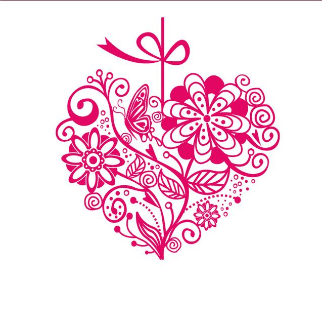 Няшная валентинка на 14 февраля