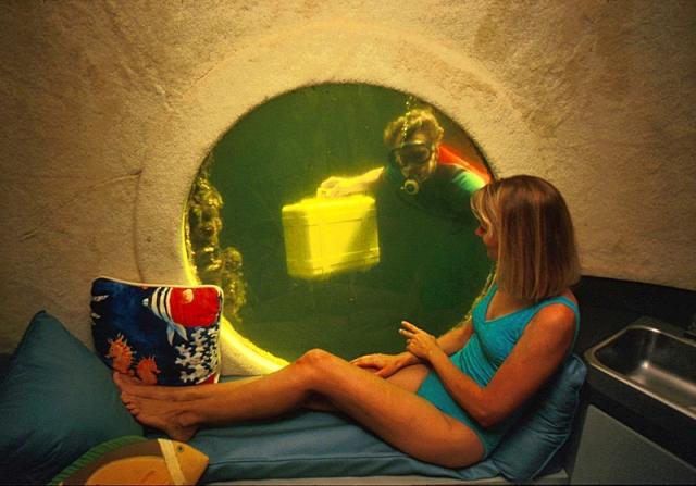 Необычные номера в отелях: «Подводная хижина», Ки Ларго, США