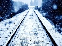 Железная дорога в снегу