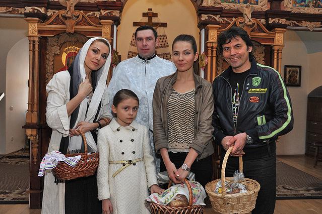 Ольга Сумская с семьей
