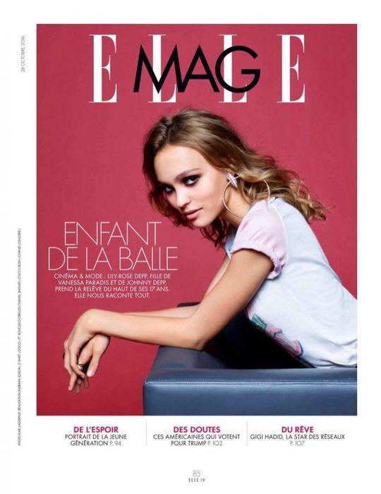 Стильные кэжуал-луки в фотосессии Лили-Роуз Депп для ELLE France