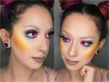 Жовті рум'яна в макіяжі