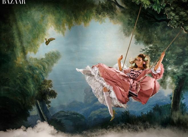 Кэти Перри перевоплотилась в Элизабет Тейлор на страницах Harper's Bazaar