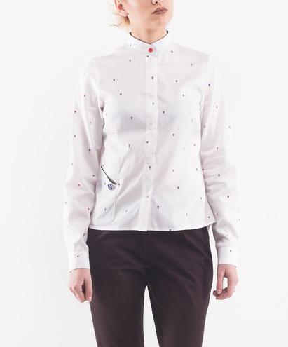 Белая рубашка InSideU, 1049 грн
