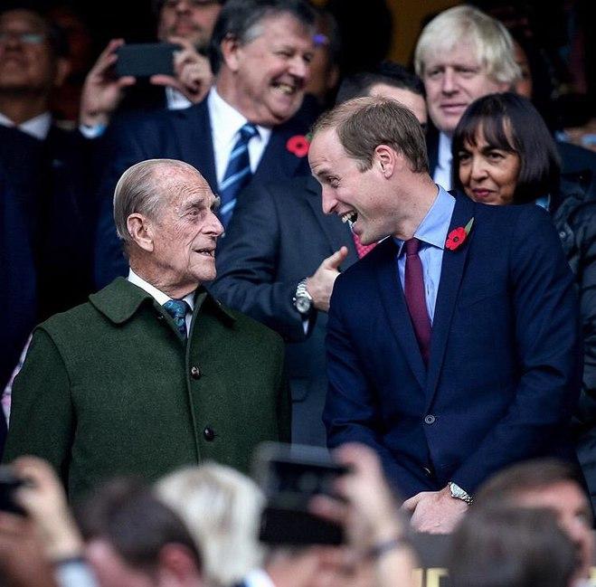 Принц Филипп и принц Уильям