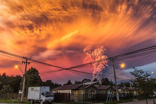Страшно красиво: виверження вулкана Кальбуко в Чилі