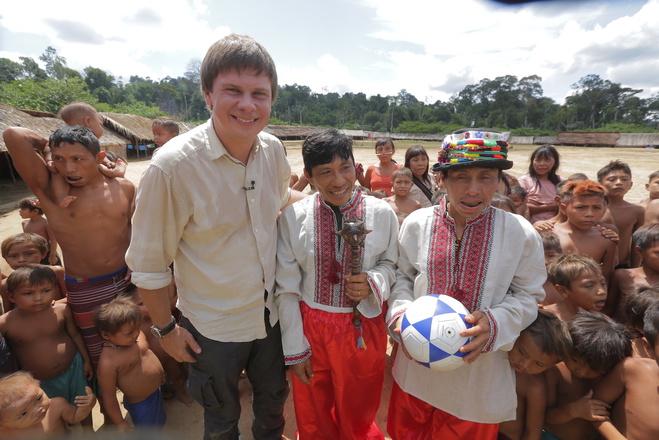 Дмитро Комаров у племені яномамі, Бразилія