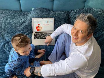 Олександр Педан з сином