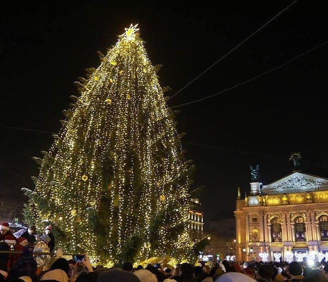 Елочка гори: как выглядят новогодние елки в регионах Украины
