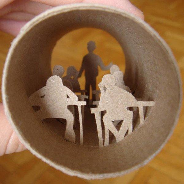 Искусство, живущее в рулонах туалетной бумаги