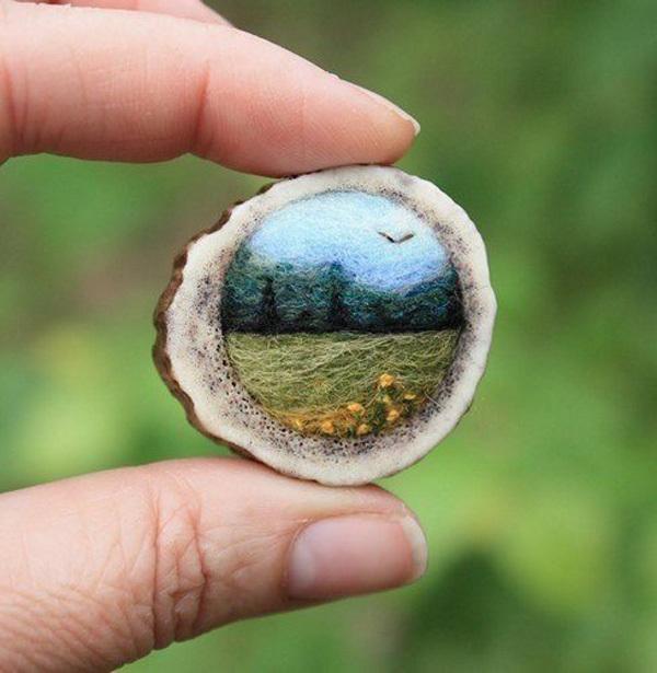 Удивительные пейзажи из войлока от Лизы Джордан