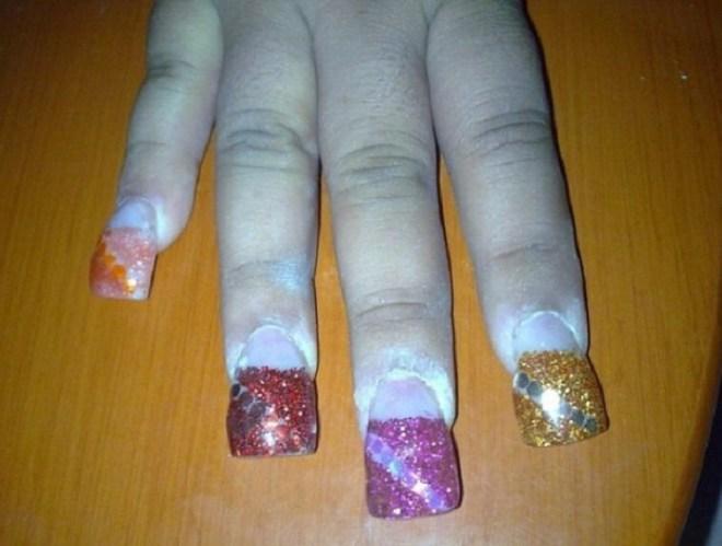 Гелевые ногти на своими руками 121