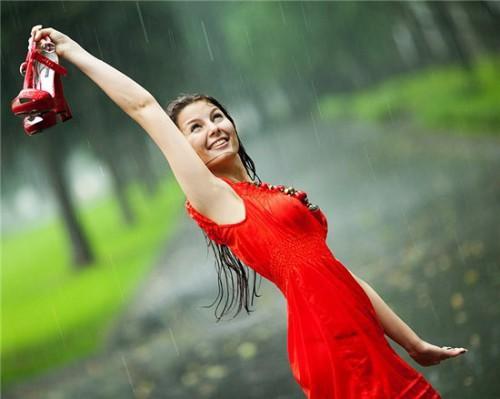 Красивые фото под дождем