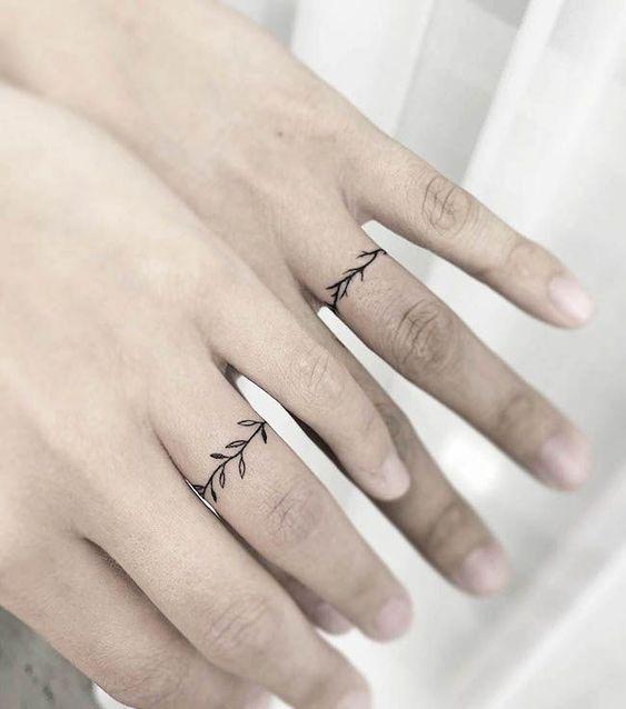 Незвичайні ідеї парних весільних тату