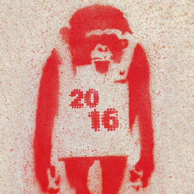 Открытка с новым годом обезьяны