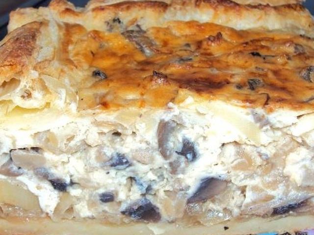 Заливной пирог с грибами рецепт с