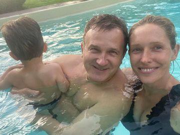 Юрий Горбунов с семьей