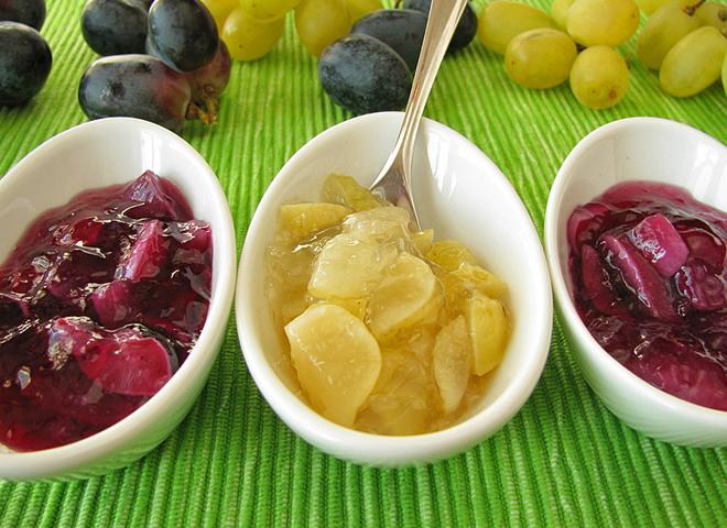 Варення з винограду: рецепт для світлих і темних сортів