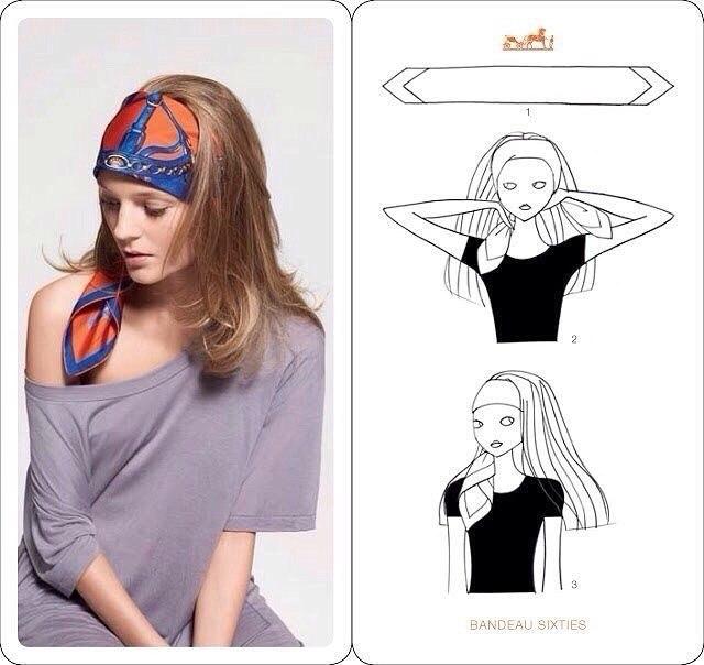 Як зав'язати хустку на голові: фото-урок
