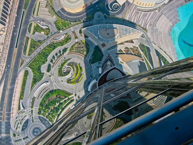 Смотровая площадка Бурдж Халифа. Расположена на 124 этаже небоскрёба Бурдж Халифа