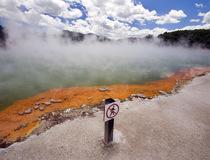Бассейн с шампанским: термальный источник в Новой Зеландии