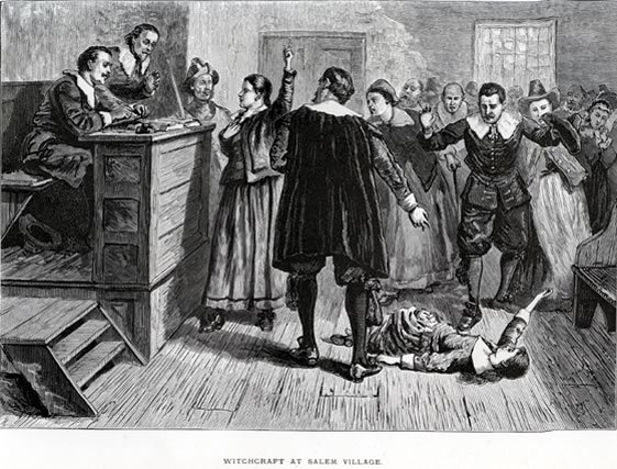 Процесс над салемскими ведьмами, иллюстрация 1876 года