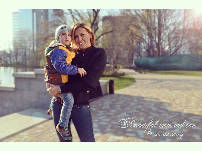 Яна Клочкова з сином