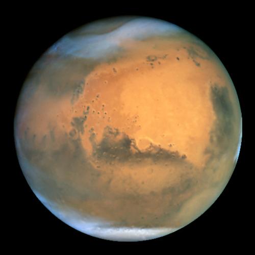 Марс. Снимок телескопа Хаббл