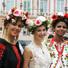 Яна Клочкова приняла участие в «параде вышиванок»