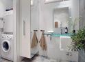 Скандинавський стиль для маленьких ванних